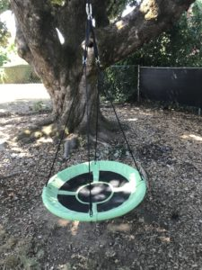 how to hang a tree swing in the backyard